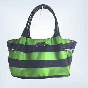 Kate Spade Cambridge bright stripe large satchel